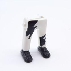 Playmobil Homme Gris & Vert avec Bottes Jaunes & Salopette Grise Dauphin