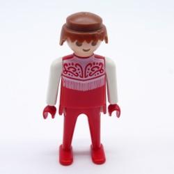 Playmobil Bouclier Gris Rouge Noir Hache Grise