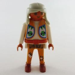 Playmobil Homme Chevalier du Lion Noir Armure Dorée et Rouge