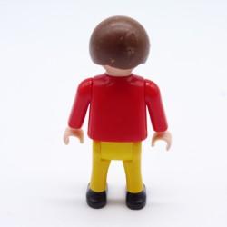 Playmobil Homme Chevalier Gris et Jaune Ecailles Argents Bottes Rouges