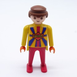 Playmobil Man Black Red and Yellow Red Hooded Vikings Boots