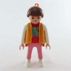 Playmobil Homme Gris Controleur du Train avec Casquette Rouge