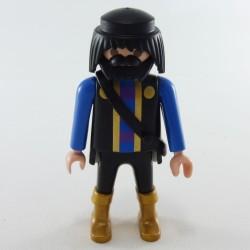 Playmobil Homme Gris Pompier Tenue Risque Chimique