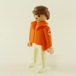 Playmobil Homme Orange et Bleu Salopette Orange Paysan