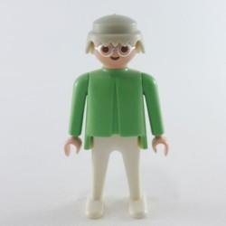 Playmobil Homme Blanc Gris et Orange Agent Secret