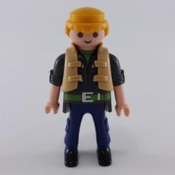 Playmobil Homme Violet et Vert Roi avec Cape et Sceptre