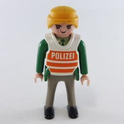 Playmobil Homme Vert Pompier Tenue Risque Chimique