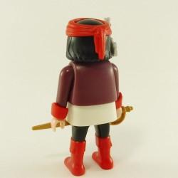 Playmobil Man's Head with Orange Beard Hair in Gray Mesh Coast