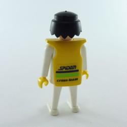 Playmobil Man's Head with Orange Beard of Pirate Hair in Gray Mesh Coast