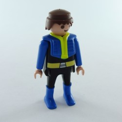 Playmobil Man's Head with Gray Beard Necklace and Classic Hair