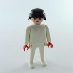 Playmobil Tête Homme avec Barbe de Pirate et Cheveux Noirs Classiques