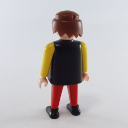 Playmobil Man's Head with Black Beard Necklace and Frizzy Hair