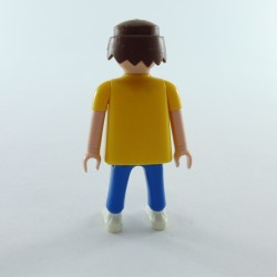 Playmobil Man's Head with Yellow Beard Necklace and Frizzy Hair