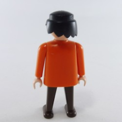 Playmobil Man's Head with Yellow Beard and Frizzy Hair