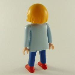Playmobil Man's Head with Black Medieval Hair