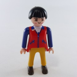 Playmobil Man's Head with Gray Semi-Long Hair