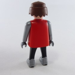 Playmobil Man's Head with Brown Semi-Long Hair