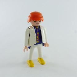 Playmobil Lot de 2 Cheveux pour Homme Mi Longs Oranges