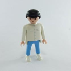 Playmobil Lot de 2 Cheveux pour Homme Mi Longs Noirs