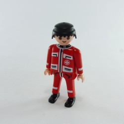 Playmobil Lot de 2 Cheveux pour Homme Mi Longs Marrons