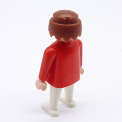 Playmobil Man's Burgundy Small Queue Hairs for Soldier