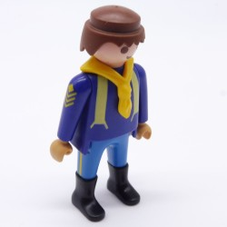 Playmobil Man's Head with Orange Classic Hair