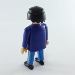 Playmobil Man's Head with Dark Orange Classic Hair