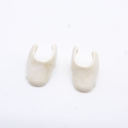 Playmobil Modern Green and Red Woman with Bare Feet
