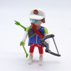 Playmobil Lot of 2 Black Collars Officer