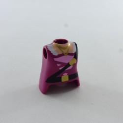 Playmobil Armure de Torse Gris Foncé