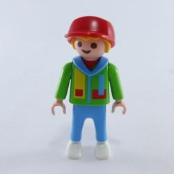 Playmobil 21702 Homme Gris & Rouge avec Mains Grises
