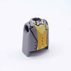 Playmobil 21723 Black & White man with White Collar Sweep 4688