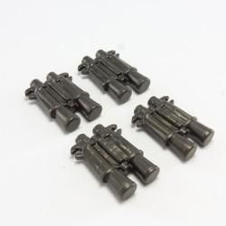 Playmobil Lot de 3 Attaches Noires