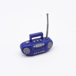 Playmobil Paire de Jambes Noires Deco Argent Bottes Rouges Vikings