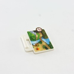 Playmobil Buste Rouge Tete Dragon Rouge