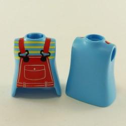 Playmobil Paire de Jambes Bleues Foncées Pantalon Plissé