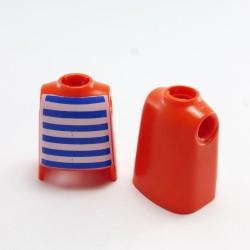 Playmobil Lot de 5 Casques de Moto Vintage Rouge Orange