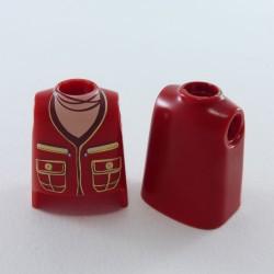 Playmobil Bouclier Rouge Argent Noir