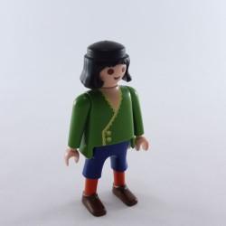 Playmobil Paire de Jambes Blanches Traits Bleus Chaussures Argent
