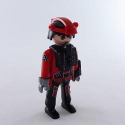 Playmobil Pair of Black Legs & Modern Red Pockets