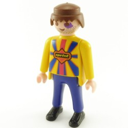 Playmobil Lot de 2 Tetes Mal Rasées Tatouage sur Œil