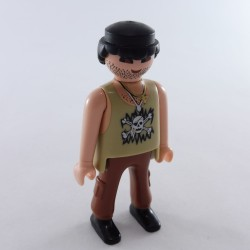 Playmobil Tete Bronzée Cheveux Pirate Yeux Colere